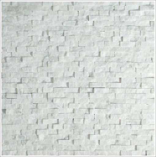 Mini Split Face Stone Tile Carrara Kitchen Backsplash