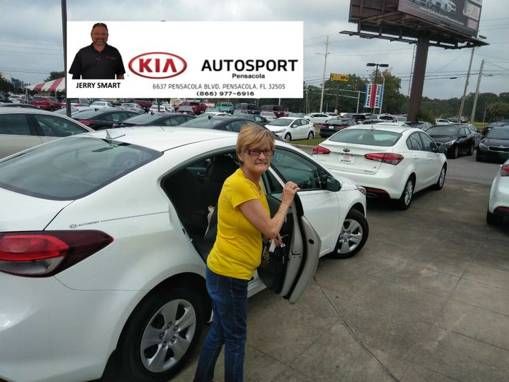 "Jerry Smart and KIA AutoSport of Pensacola thanks Ms. Violet Reese on the purchase of her BRAND NEW 2017 KIA Forte. We thank you so much for your business and thank you for making us your GO TO Dealer!! Welcome to the KIA Family! We look forward to helping you with all your sales and service needs!! ""WE WANNA SEE YA IN A KIA"" #KIAFAMILY"