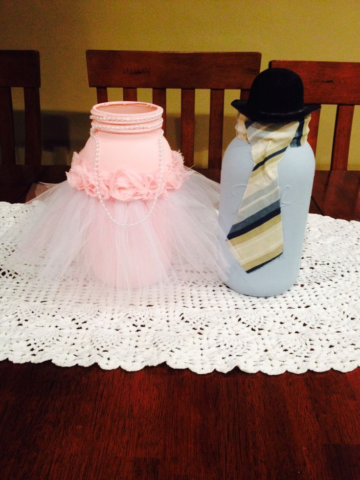 Ties or Tutu Centerpiece