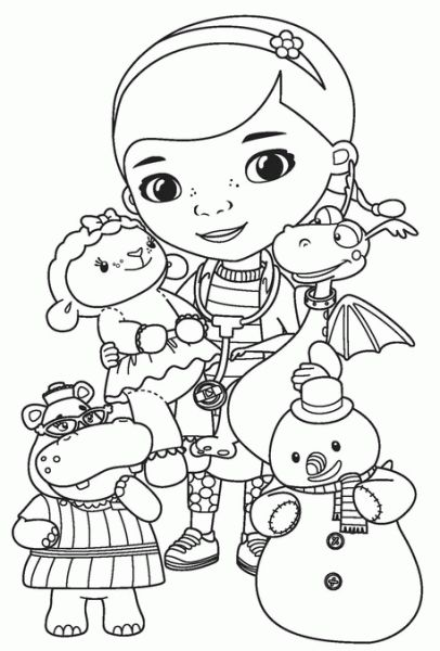 Disney Coloring Pages Doc Mcstuffins : Disney doc mcstuffins coloring page sketch