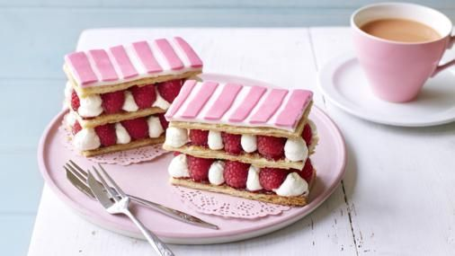 BBC Food - Recipes - Raspberry millefeuille