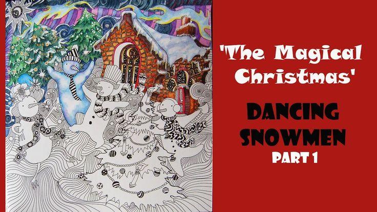 Colouring 'The Magical Christmas' Dancing Snowmen. Part 1/ Раскраска-ант...