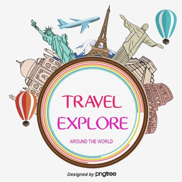 Viaggio Intorno Al Mondo Global Il Viaggio La Cornice Png E
