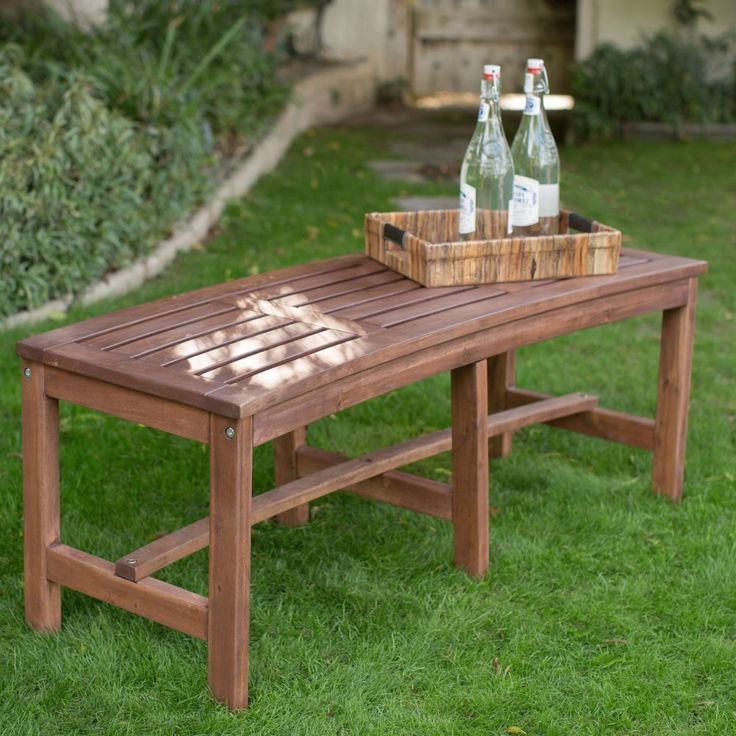Solid Acacia Wood 2 Seat Garden Storage Bench: Best 25+ Curved Outdoor Benches Ideas On Pinterest