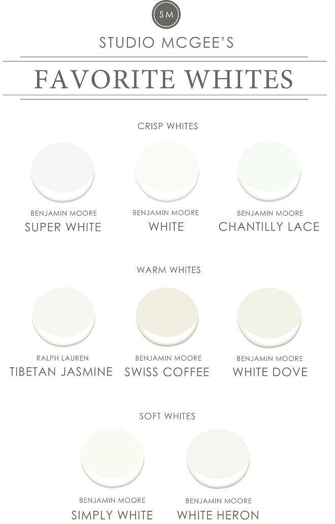 Studio McGee's favorite white paint colors