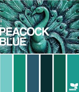 peacock colors. My new favorite color....I'm thinking forever!