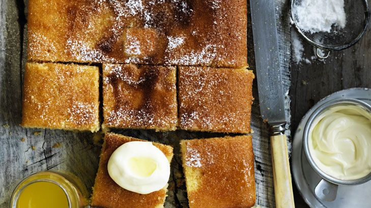Neil Perry's orange semolina cake takes inspiration from the Middle East.