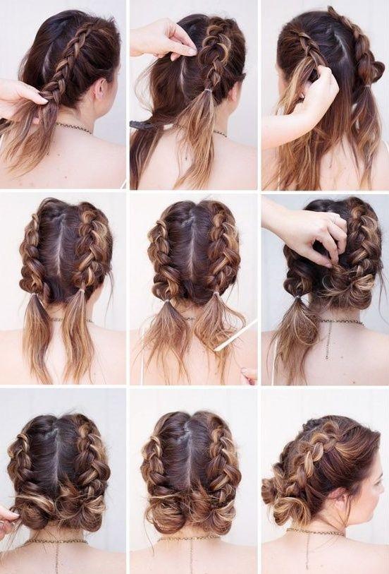 15 coiffures rapides et faciles à répéter… - #Easy # coiffures #quick #repeat
