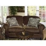 $739.00 Jackson Furniture - Carlton Loveseat in Java Fabric - 4388-02