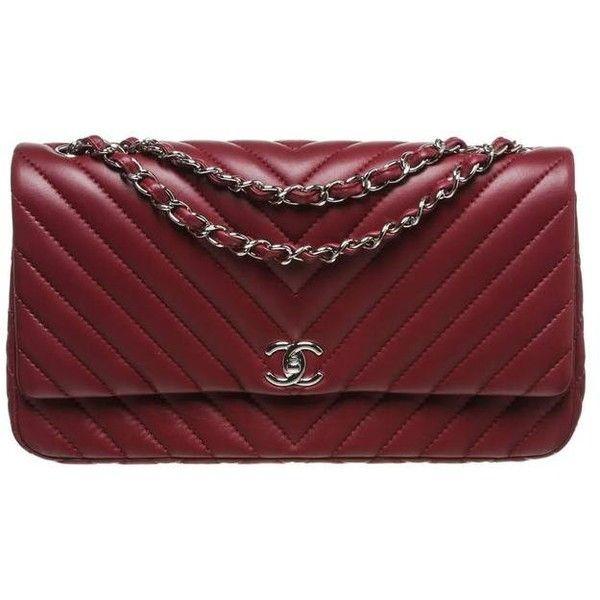 Pre-owned Chanel Burgundy Chevron Lambskin Jumbo Classic Flap Handbag ($5,295) ❤ liked on Polyvore featuring bags, handbags, shoulder bags, handbags and purses, chanel handbags, chanel, chevron print purse, preowned handbags and burgundy handbag