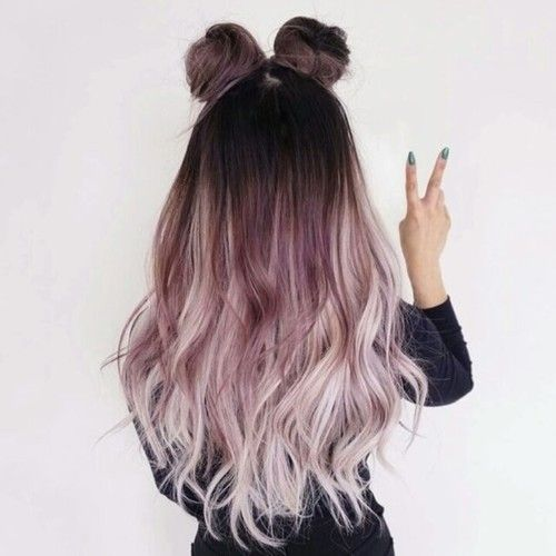 hair, pink, and ombre image