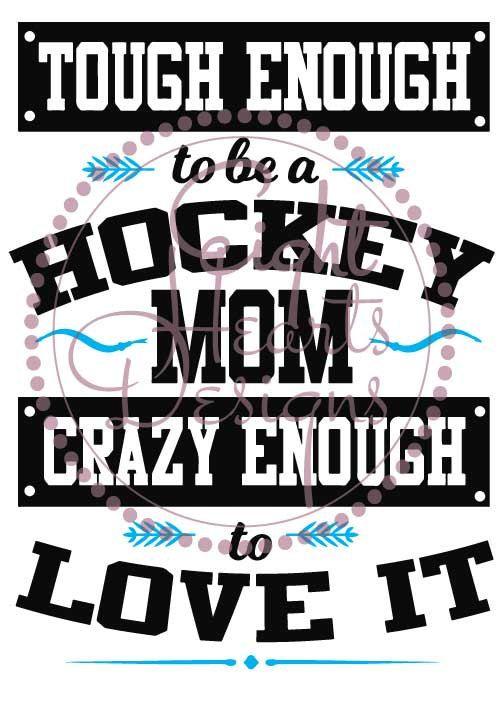 Tough Enough to be a Hockey Mom SVG Studio by EightHeartDesigns