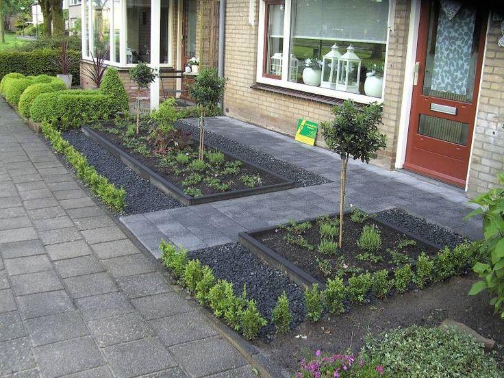Voortuinen klein boompje house garden pinterest for Foto s voortuinen