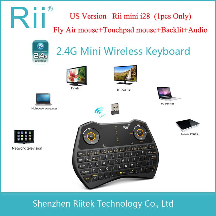 Fly Air mouse Rii mini i28 Wireless mouse Keyboard Touchpad Audio Backlit Combo gaming Teclado for Andorid TVBox HTPC Tablet PC #Affiliate