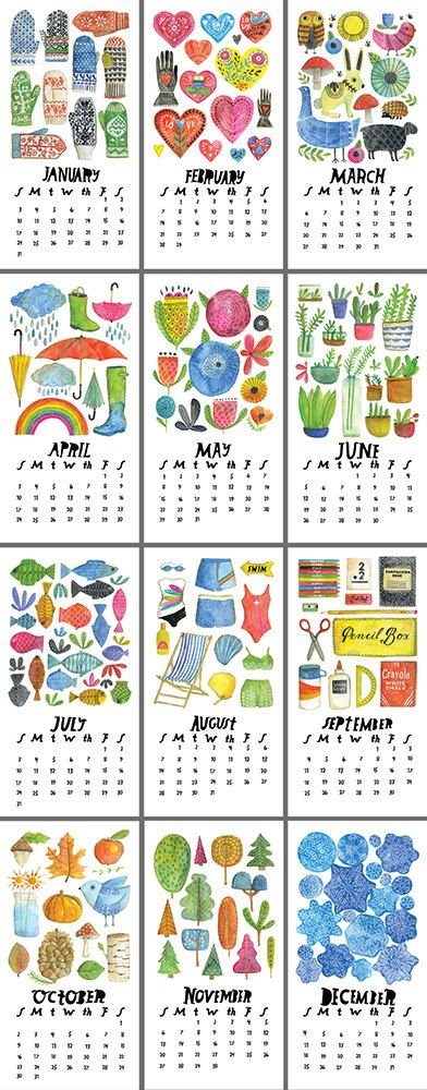 Lisa Congdon: 2016 Wall Calendar Limited Edition