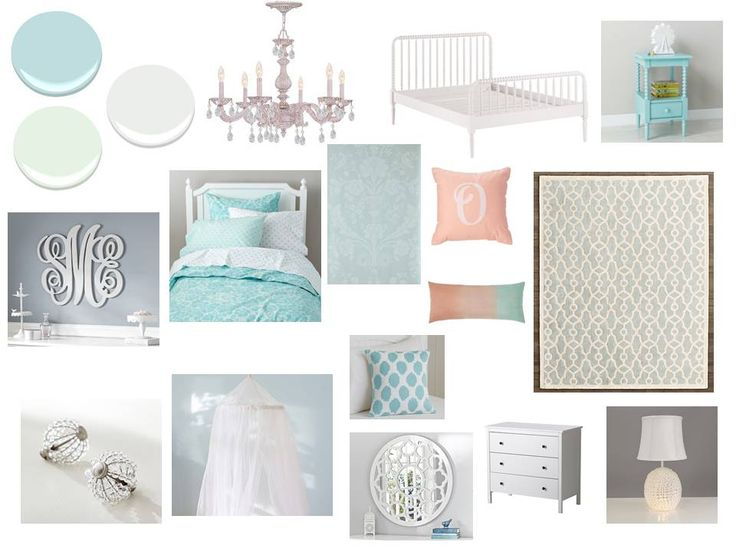 This frozen inspired bedroom is a room with white, aqua, and sparkle just like the movie.  Perfect for your princess (plus this room could grow with your little girl without too many changes). Interior decorating. home decor. home decoration. home styling. e-decor