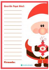 Carta para imprimir con dibujos de Papa Noel