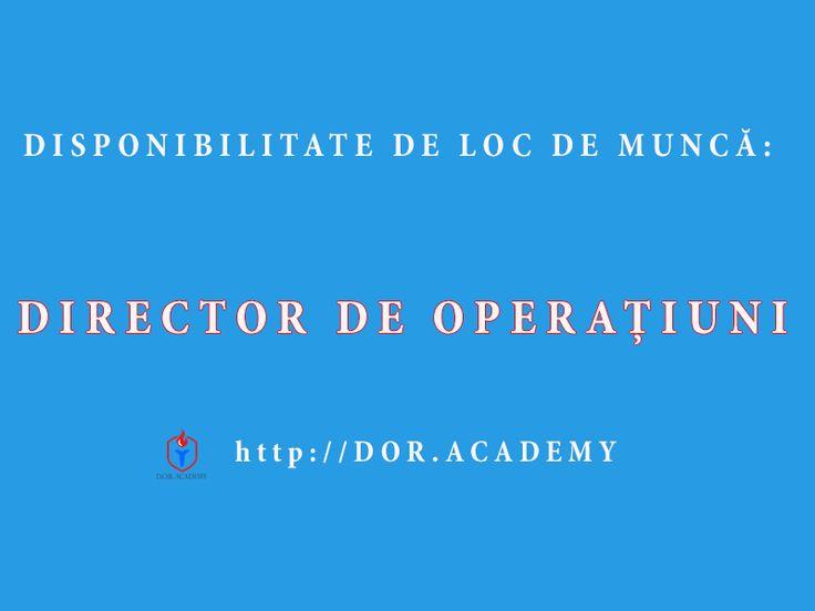 DISPONIBILITATE LOC DE MUNCA: DIRECTOR OPERATIUNI
