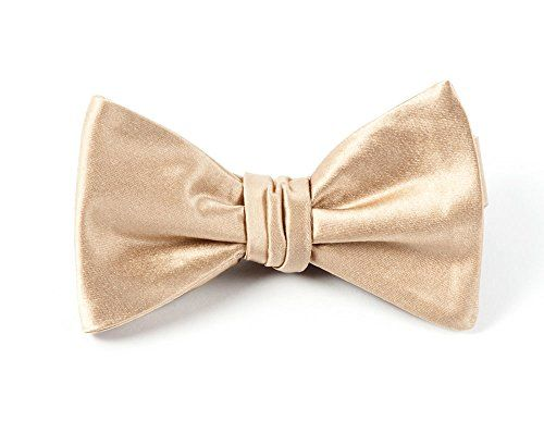 Self tie bow tie - Woven Jacquard silk in solid light umber brown Notch 5oVdrGy