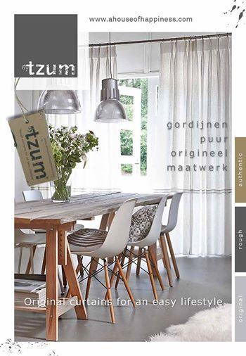 ByTzum krant! Original curtains for an easy lifestyle. Vol met #wooninspiratie met #gordijnen.