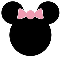 Free Minnie Mouse Clipart - perfect for birthday parties or baby showers! Use to make garland, invitations, confetti, stickers! Comes in 3 different sizes - free to download and print! Minnie Mouse Baby Shower Invitations