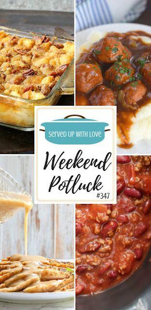 Pecan Pie Bread Pudding At Weekend Potluck 347 Crock Pot Meals