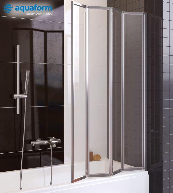 Jeśli Twoja łazienka jest wyposażona tylko w wannę, a marzy Ci się szybki prysznic o poranku, wyposaż ją w składany parawan nawannowy, np. czteroelementowy model Tanganika. #Aquaform #Lazienka #Inspiracje #Wanny #Bathroom #Tanganika #ParawanNawannowy #AranżacjaŁazienki #Design