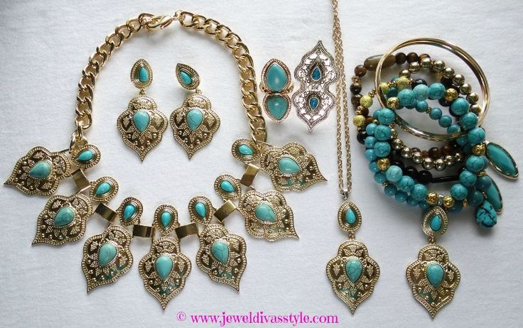 JDS - DESIGNER INSPIRED: Marrakesh necklace and earring set that I ought and then added to in my own style - http://jeweldivasstyle.com/designer-inspired-marrakesh-necklace-and-earring-set/