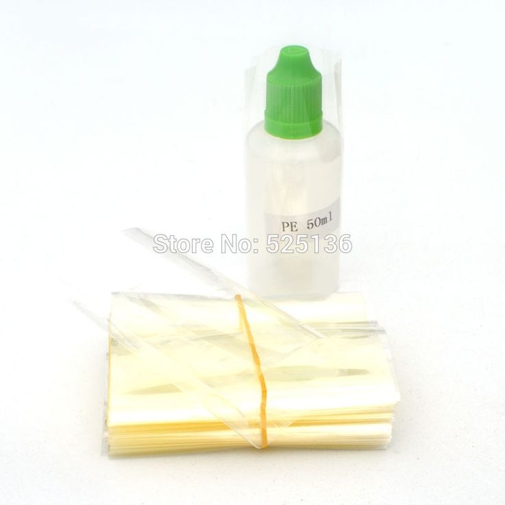 1000 Pcs Clear PVC Heat Shrink Wrap Film for 50ml E Liquid PE/PET Bottles Heat Shrink Film Shrink Seal DHL Free #Affiliate