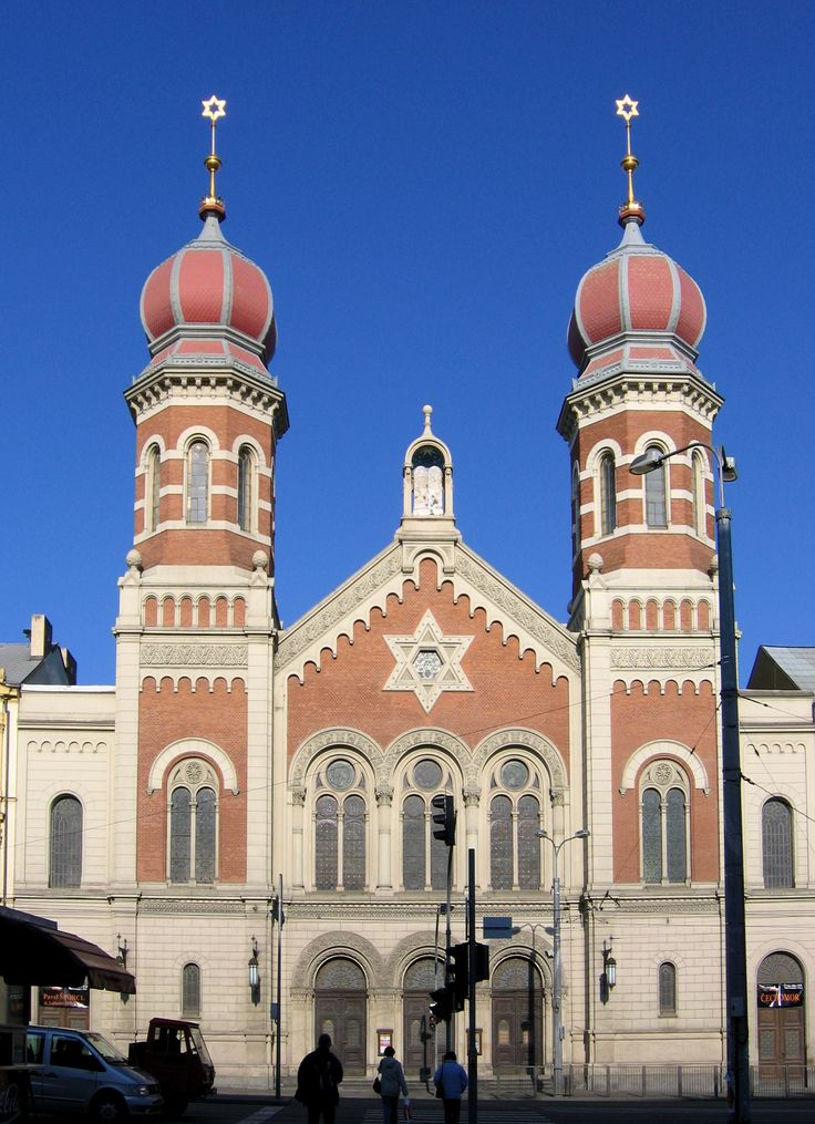 Synagogue in Plzeň, Czechia. Second largest synagogue in Europe