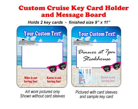 Cruise Ship Key Card Holder And Message Board Magnet Custom Magnet 9 X 11 In 2020 Card Holder Key Card Holder Messages