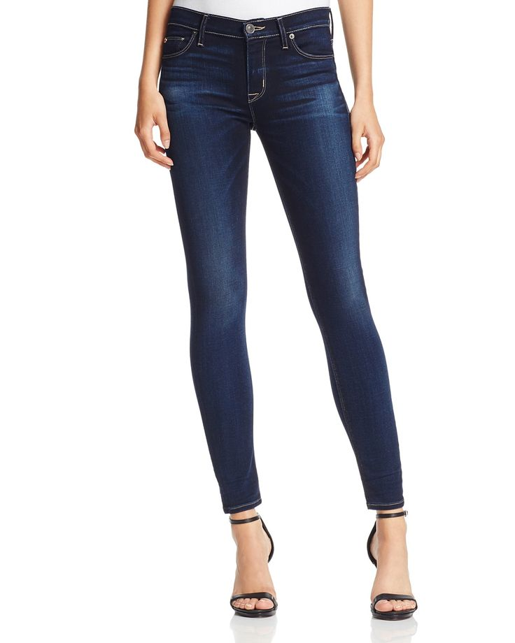Hudson Nico Mid Rise Super Skinny Jeans in Crowbird