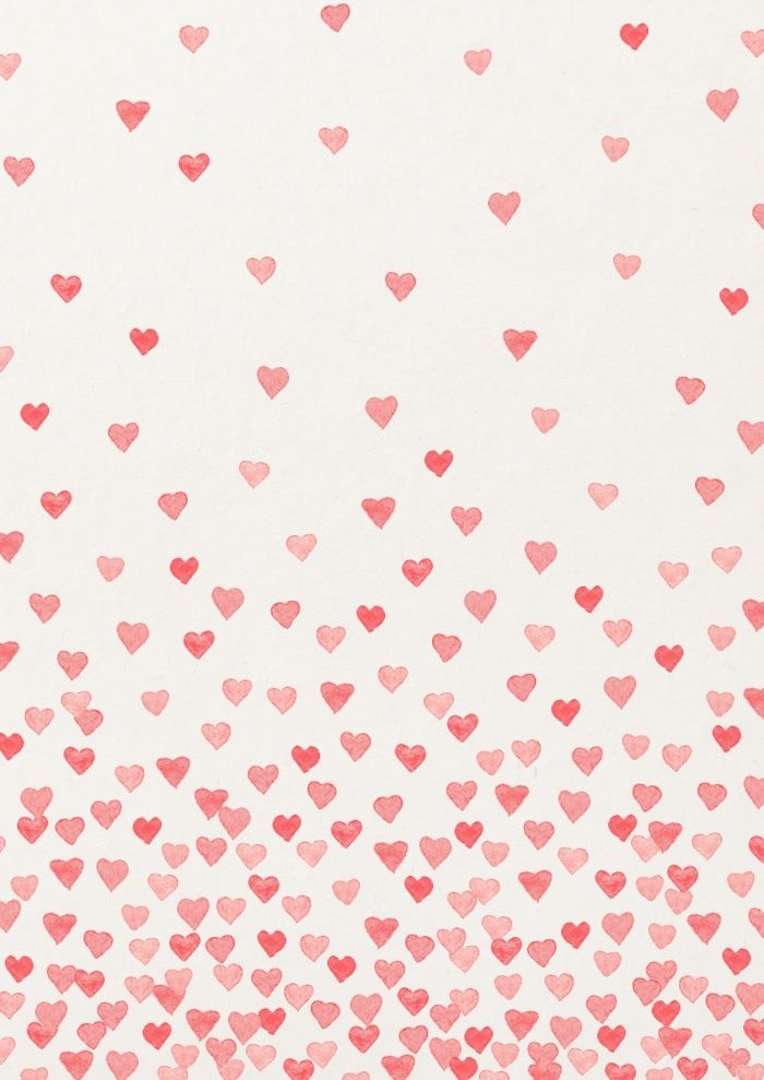 Red Watercolor Hearts Valentines Wallpaper Watercolor Heart