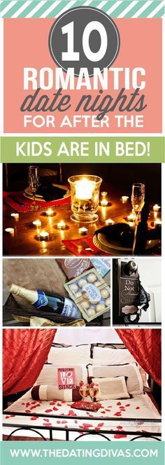 Romantic dates nights for after you put the kids to bed. Brilliant!