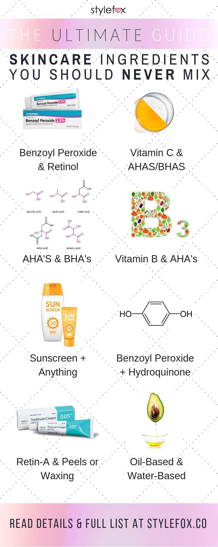 The Ultimate Guide Skincare Ingredients You Should Never Mix Skincare Ingredients Skin Care Essentials Skincare Facts