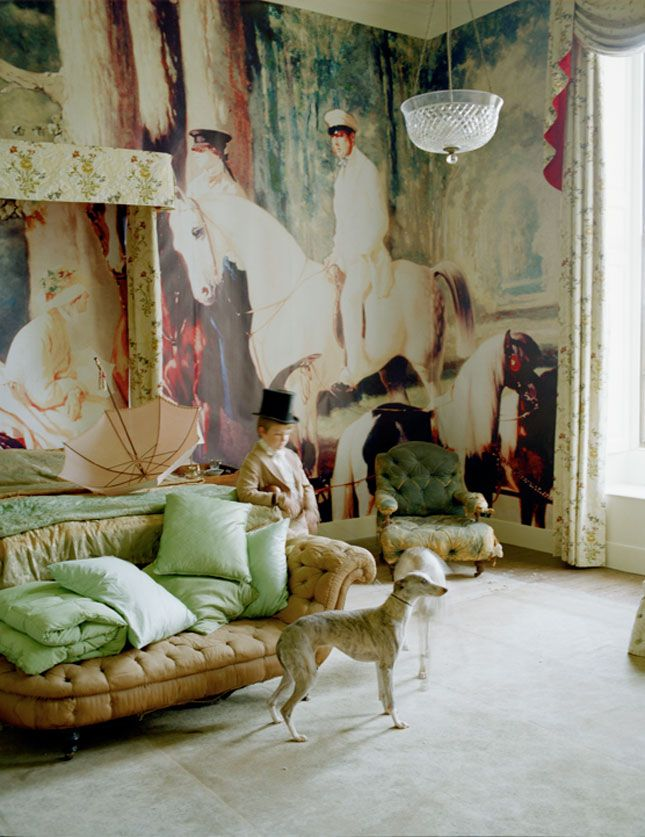 set design and costumes by rhea thierstein, photography by tim walkerExcept, Interiors, Bohemian Room, Wall Murals, Timwalker, Wall Treatments, Painting Wall, Tim Walker, W Magazines