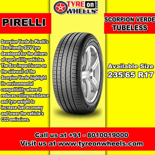 Buy Pirelli Car Tyres Online of Scorpion Verde Tubeless for Size 235/65 R17 at Guaranteed Low Prices and also get Mobile Tyres Fitting Services at your home now buy at http://www.tyreonwheels.com/car/tyre/235/65/17/car_manufact/vs/10/Bangalore