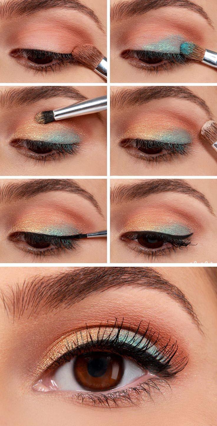использую стекло макияж глаз пошаговое фото тени тестовая методика