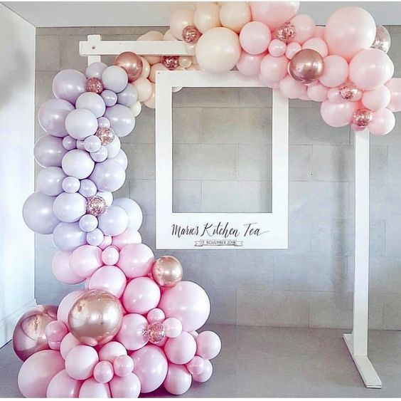 Balloon or ball bubble frame around oversized polo frame for photo booth – …