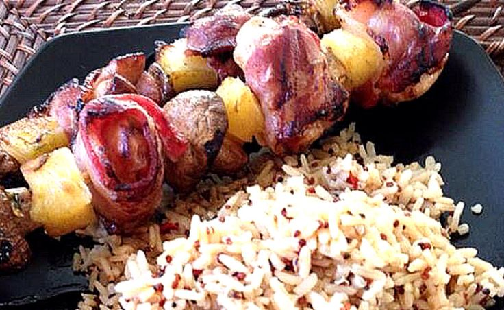 Chicken and Bacon Shish Kabob