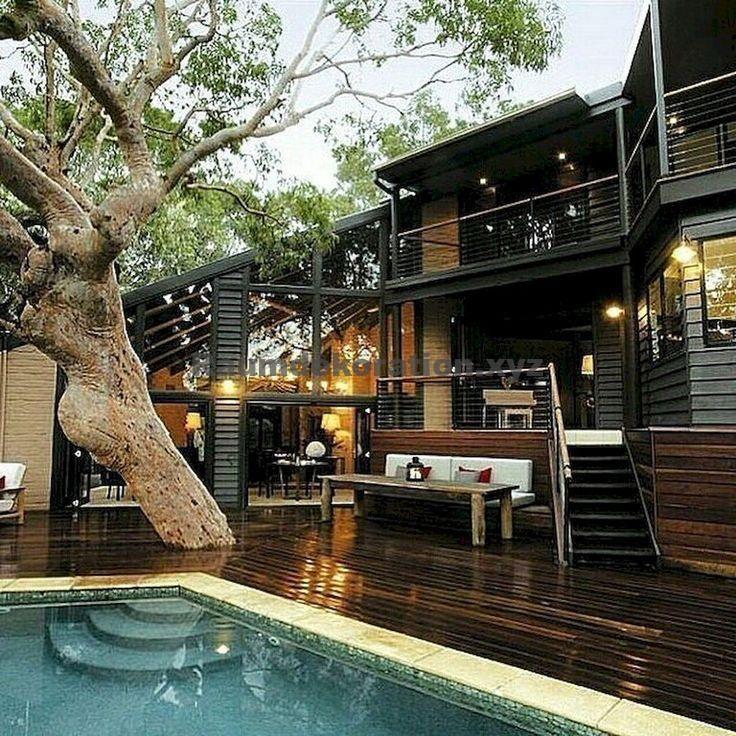 Architektur Ideen – 80+ Wunderbare moderne Hausarchitektur Design-Ideen #homedecorideas #homedecora