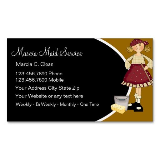 199 Best Images About Maid Services Business Cards On