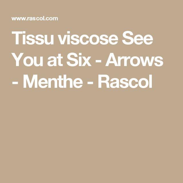Tissu viscose See You at Six - Arrows - Menthe - Rascol