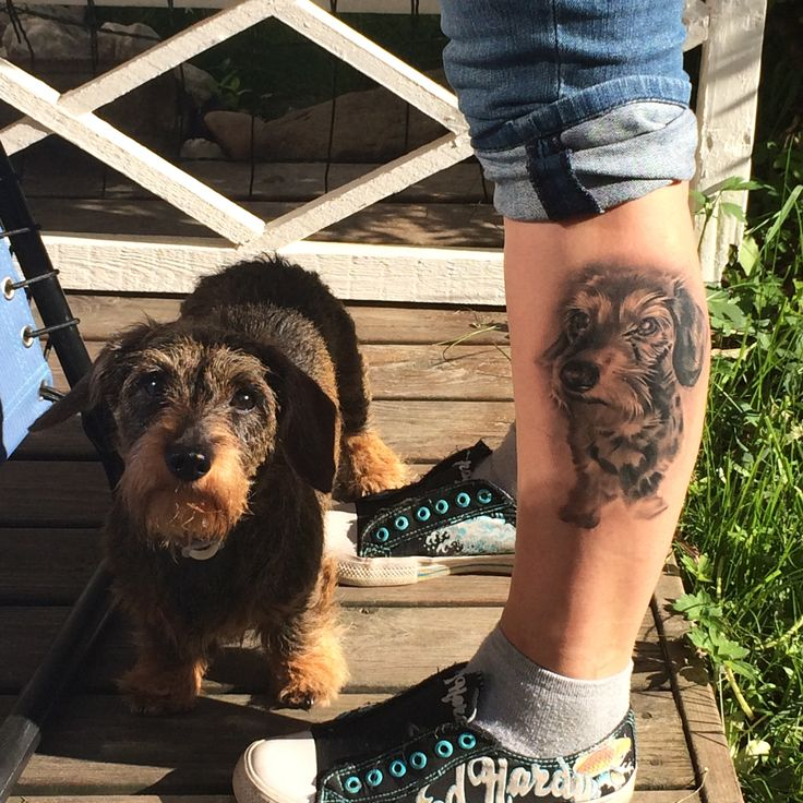 My dog tattoo, made by Joni from Takomo, Tampere, Finland. I love it :)