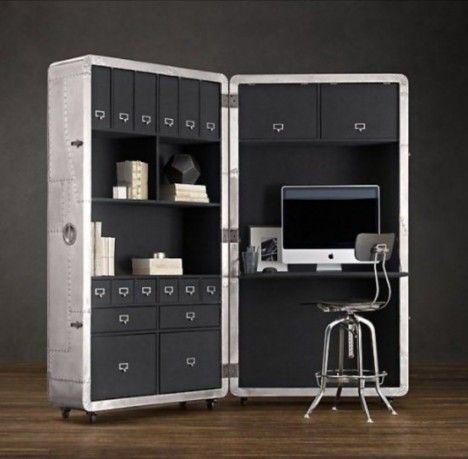 space saving mobile office blackhawk secretary trunk