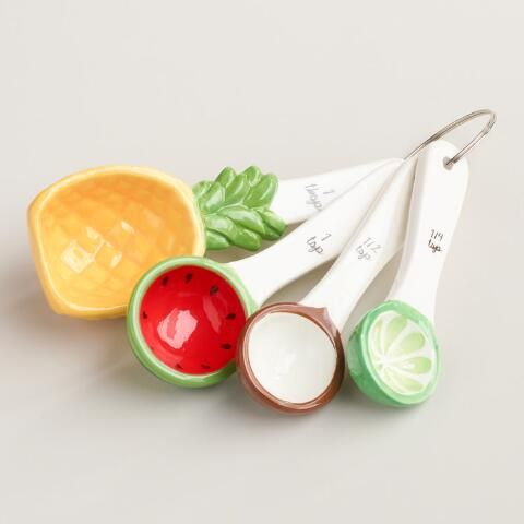 Tropical Fruit Ceramic Measuring Spoons | World Market
