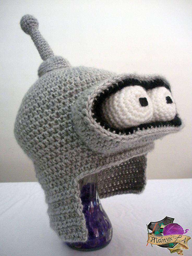 Crocheted Bender Hat by yours truly, melibusla.deviantart.com on @deviantART