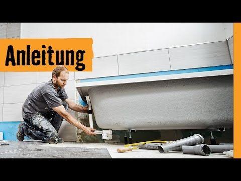 Badewanne einbauen: auf Wannenfüßen | HORNBACH Meisterschmiede - YouTube