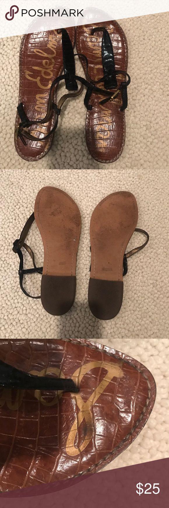 Size 10 Black Sam Edelman Gigi Sandal! Previously loved! Size 10 Black Sam Edelman Gigi sandal! Still in good condition for the amount that I wore them. Sam Edelman Shoes Sandals