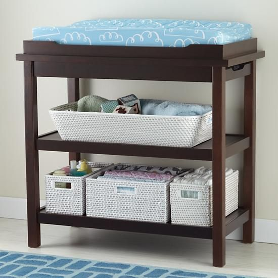 Baby Changers: Baby Espresso Durable Changing Table in Changing Tables & Dressers | The Land of Nod